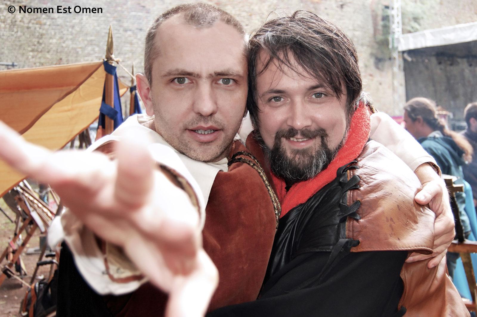 Mihai Plămădeală şi Liviu Pancu undeva în Transilvania (foto: Anca Dobre)
