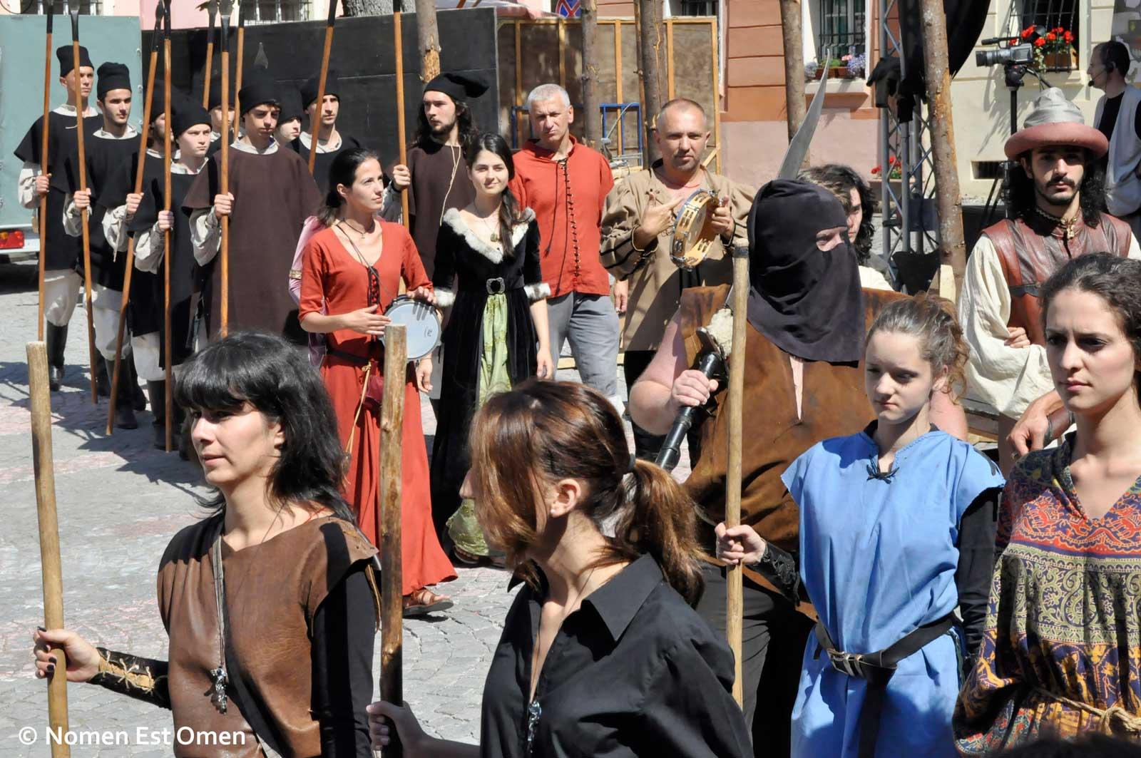 Sighisoara Medievala 2013  poze cu domnite si cavaleri