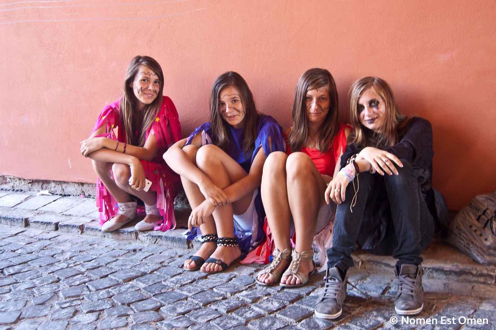 Festivalul medieval Sighisoara - fete